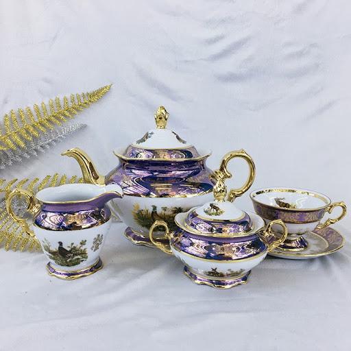 Bộ ấm chén pha trà phong cách châu Âu